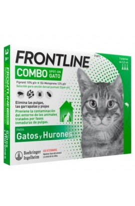 FRONT LINE GATOS COMBO 6 PIPETAS