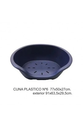 CUNA PLASTICO Nº6  77X50X27CM.