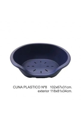 CUNA PLASTICO Nº8  102X67X31CM.