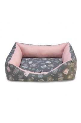 29301 Foto: cama perros rosa y gris