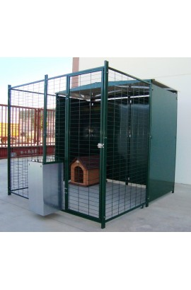 018005 Foto: 018005 panel perrera malla con puerta