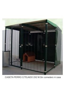 018060 Foto: perrera con tejado 2x2